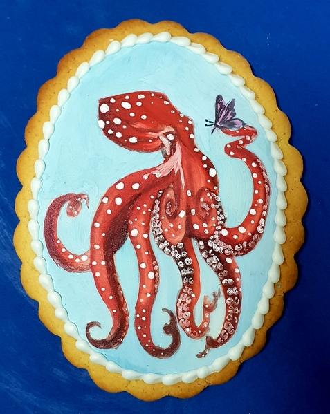 Octopus in red
