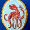 Handpainted Octopus in Red: By Tarryn Meiring