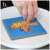 Steps 4a, 4b, and 4c - Apply Sugar to Veins: Cookie and Photos by Aproned Artist