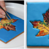 Steps 4e and 4f - Continue Applying Sugar to Leaf: Cookie and Photos by Aproned Artist