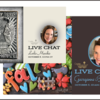 Live Chat Double Feature Banner: Cookies and Photos by Leslie Marchio and Georganne Bell; Graphic Design by Julia M Usher