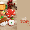 Top 10 Cookies Banner: Cookies and Photo by Di Art Sweets; Graphic Design by Julia M Usher