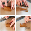 Steps 2b, 2c, 2d, and 2e - Shape Dough on Mold: Cookie and Photos by Aproned Artist