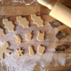 Step 2 - Cut Out Smaller Cookies to Decorate Wreath Base: Cookies and Photo by Gingerland