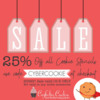 Cyber Monday Cookie Stencil Sale Banner with Cyber-Cookie!: Graphic Courtesy of Confection Couture Stencils; Modified with Shutterstock Clip Art by Julia M Usher