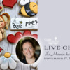 Live Chat Banner for Le Monnier du Biscuit: Cookies and Photo by Karine Lemmonier; Graphic Design by Julia M Usher
