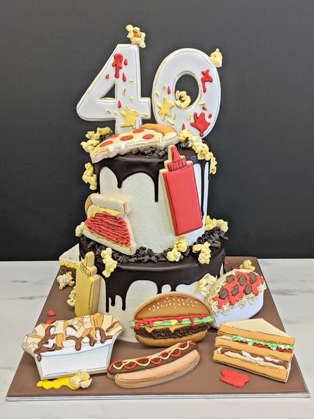 fast food gâteau