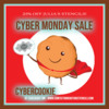 Cyber Monday Sale Reminder Banner: Graphic Design by Julia M Usher; Cookie Clip Art from Shutterstock