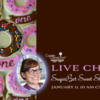 SugarBot Sweet Shop's Live Chat Banner: Cookies and Photo by SugarBot Sweet Shop; Graphic Design by Julia M Usher