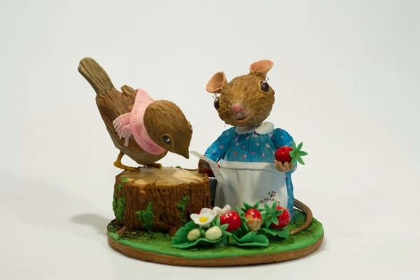 #6 - Little Friends Picking Wild Strawberries by Elke Hoelzle