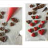 Steps 3a and 3b - Outlining and Flooding Mini Heart Cookies and Heart Transfers: Cookies and Photos by Manu