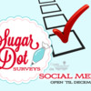 Sugar Dot Surveys Social Media Survey Banner: Logo Courtesy of Sugar Dot Cookies; Graphic Design by Julia M Usher