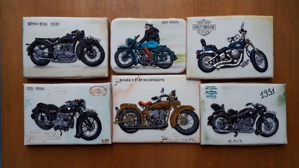 #10 - Vintage Motorcycle Cookies by Elke Hoelzle