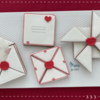 Where We're Headed - Royal Icing Wax Seals, Love Letter Cookies, and Pinwheel!: Design, Cookies, and Photo by Manu