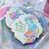Closer View!: Cookies and Photo by Julia M Usher; Stencils Designed by Julia M Usher with Confection Couture Stencils
