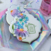 Another Closer View!: Cookies and Photo by Julia M Usher; Stencils Designed by Julia M Usher with Confection Couture Stencils