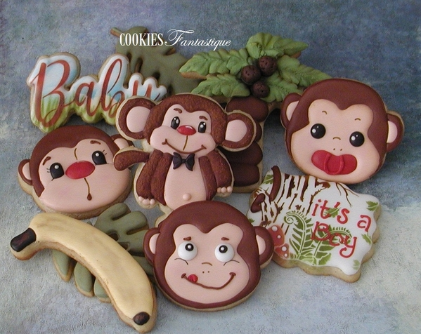 #6 - Baby Shower - Monkeying Around by Cookies Fantastique by Carol