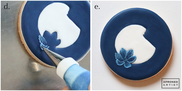 Steps 2d and 2e - Pipe and Brush Embroider Remaining Petals