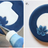 Steps 2d and 2e - Pipe and Brush-Embroider Remaining Petals: Cookie and Photos by Aproned Artist