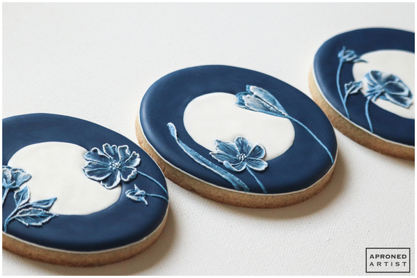 Final China Inspired Brush Embroidery Cookie