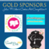 Gold Sponsor Banner with Logos: Logos Courtesy of Our Sponsors; Graphics Courtesy of That Takes the Cake Show