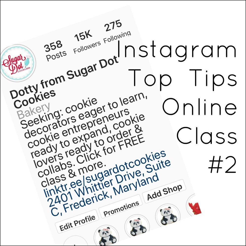 Class - Instagram Top Tips #2