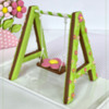 3-D Spring Swing Cookie - All Done!: Design, 3-D Cookie, and Photo by Manu