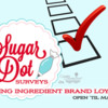 Sugar Dot Surveys Icing Brand Loyalty Banner: Logo Courtesy of Sugar Dot Surveys; Graphic Design by Julia M Usher