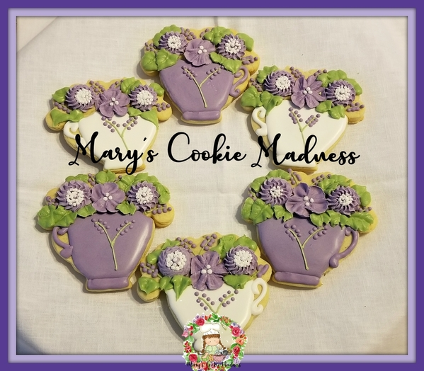 #8 - Lavender Teacups by Mary's Cookie Madness