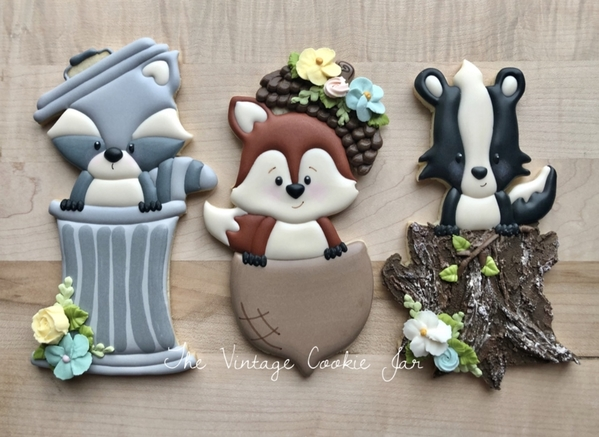 Woodland Trio by The Vintage Cookie Jar