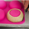 Step 1d - Smooth Bumps During Baking: Photo by Aproned Artist