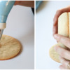 Step 7d - Attach Egg Cookie to Base Cookie: Cookies and Photos by Aproned Artist