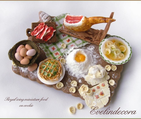 Miniature Italian Food - Evelindecora