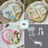 Julia's March Stencil Release, In a Nutshell!: Cookies and Photos by Julia M Usher; Stencils by Julia with Confection Couture Stencils