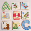 Handpainted Alphabet Cookies: Cookies and Photo by Kanch J