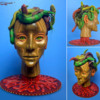 Stacy's Finished Medusa Head: 3-D Cookie by Stacy Frank; Photos by Stacy Frank