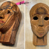 Carving Head: 3-D Cookie and Photos by Stacy Frank
