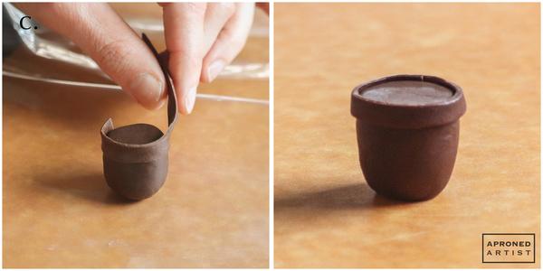 Step 1c - Add Trim to Flowerpot