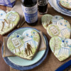 Mixed Cookie Collection: Cookies and Photo by Julia M Usher; Stencils Designed by Julia M Usher with Confection Couture Stencils