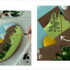 Steps 3a and 3b - Paint Trees: Design, Cookie, and Photos by Manu