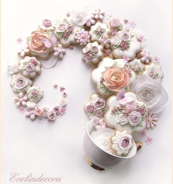 #6 - Flower Cookie Swirl by Evelindecora