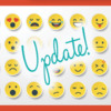 Reactions Release Update Banner: Royalty-Free Emoji Clip Art; Graphic Design by Julia M Usher