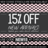 New Arrival Sale Banner: Graphic Design by Confection Couture Stencils