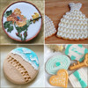 Traditional Brush Embroidery Designs - DO NOT REPLICATE THEM!: Cookies and Photos, Clockwise from Top Left, by Karen C.W., Belleissimo Cookies, yokko, and joyks