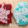 Brush Embroidery Roses: Cookies and Photo by CookiesArtByShirlyn