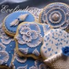 Royal Blue Cookies: Cookies and Photo by Evelindecora