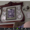 Zoom Screen, Julia's Video Cam Now On and Transmitting: Screenshot of Zoom on Julia's Laptop