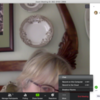 """How to Open """"Chat"""" Pane: Screenshot of Zoom on Julia's Laptop"""