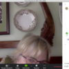 """How to Enter a Message Recipient and Message in """"Chat"""" Pane: Screenshot of Zoom on Julia's Laptop"""