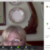 """Sent Message in """"Chat"""" Pane: Screenshot of Zoom on Julia's Laptop"""